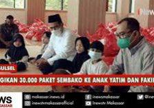 aas bagikan 30000 paket sembako ke anakk yatim dan fakir miskin