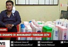 pencuri shampo di minimarket terekam cctv