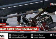 pengendara motor tewas terlindas truk