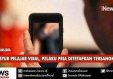 video syur viral, pelaku pria ditetapkan tersangka